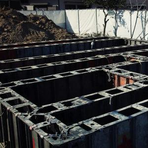 ヘーベルハウス 基礎工事 コンクリート打設